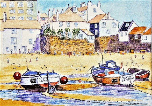 St Ives. Cornwall. Original art by Graham Luscombe