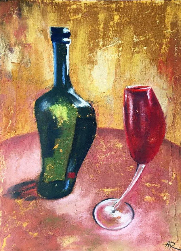 Glass Party. Original art by Alena Rumak