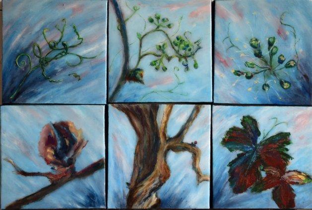 The Vine. Original art by SB Boursot