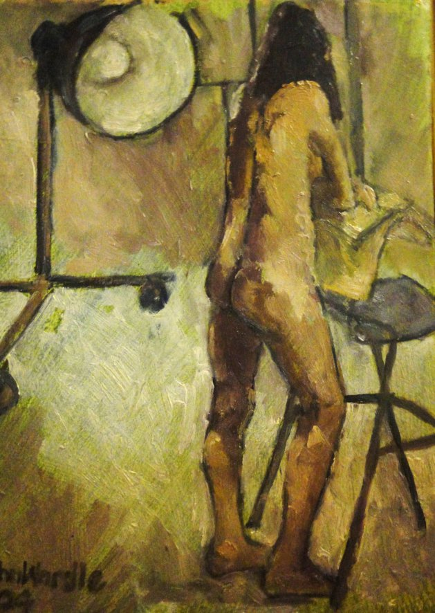 Standing Nude. Original art by John Wardle