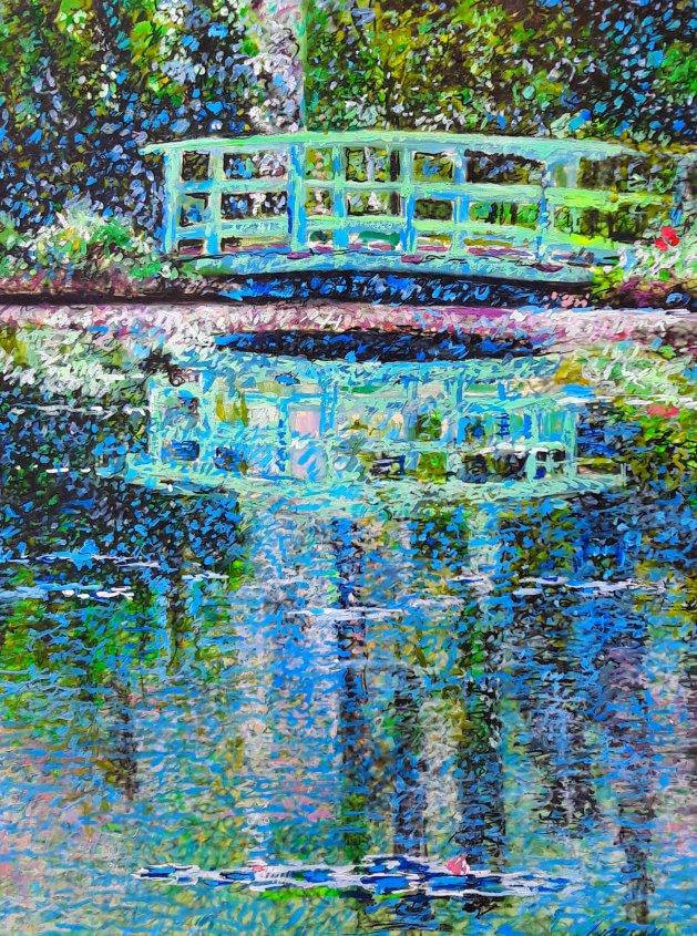 Japanese Bridge. Original art by George Ganciu