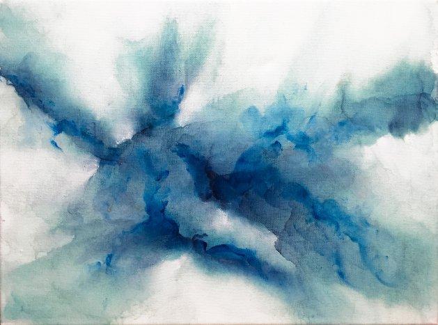 Blue Nebula. Original art by C.A. Wood