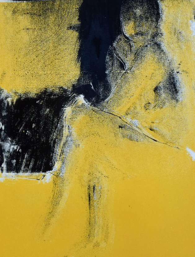 Sitting Femail Figure. Original art by Hilly Varley