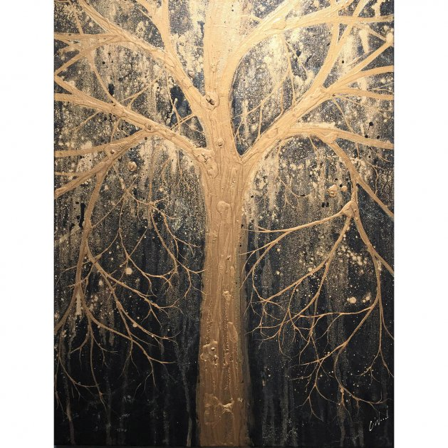 Golden Tree. Original art by C.A. Wood