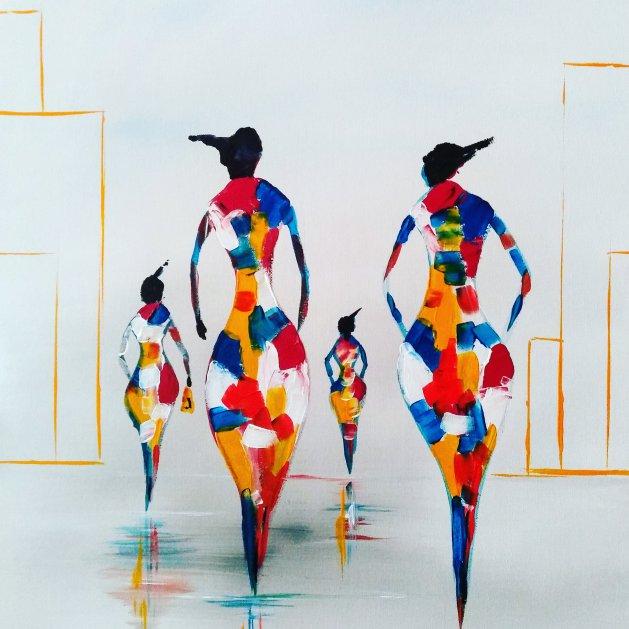 LADIES POWER. Original art by Kevin Richards