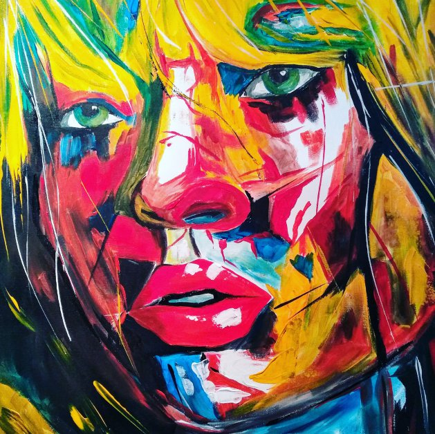 BLONDES HAVE MORE FUN. Original art by Kevin Richards