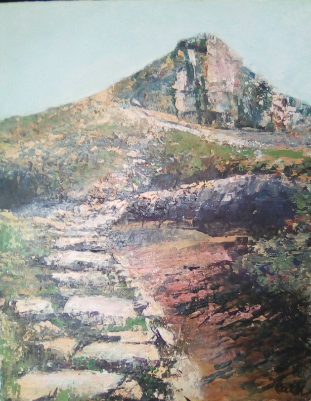 'Up'  (Roseberry Topping). Original art by Cath Little