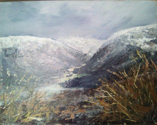 Glen Gairn Vista, Cairngorms. Original art by Cath Little