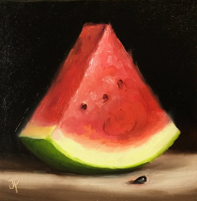 Watermelon. Original art by Jane Palmer