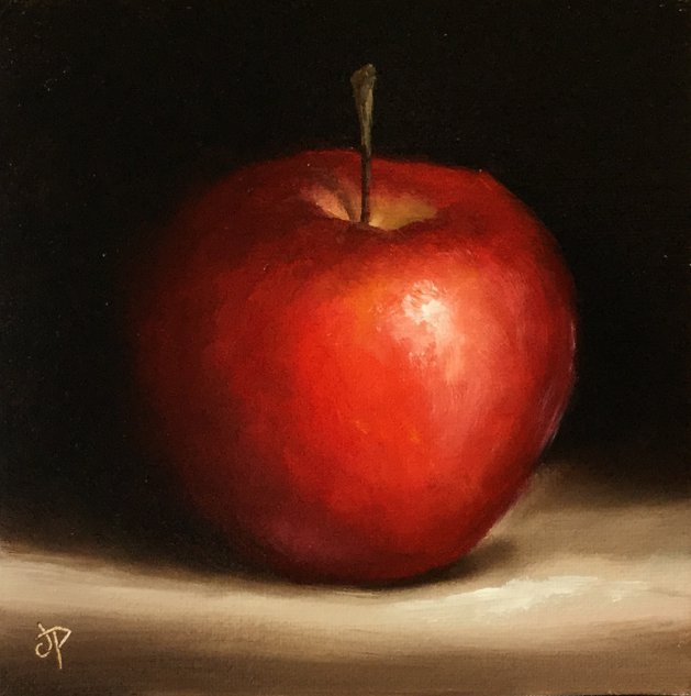 Red Apple. Original art by Jane Palmer