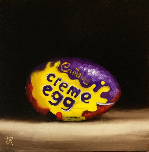 Creme Egg. Original art by Jane Palmer