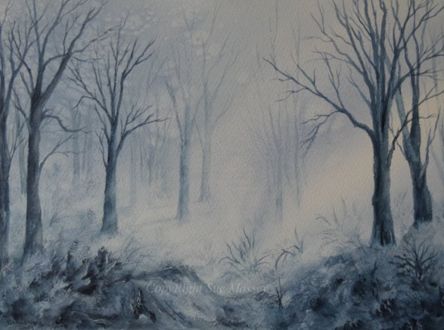 The Illuminated Forest.. Original art by Sue Massey