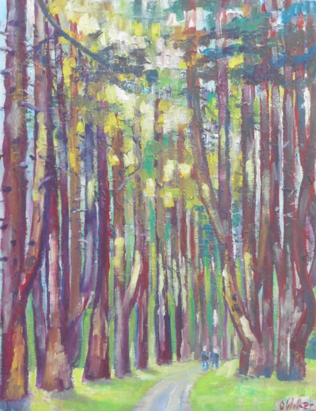 Sandringham walk. Original art by John Walker