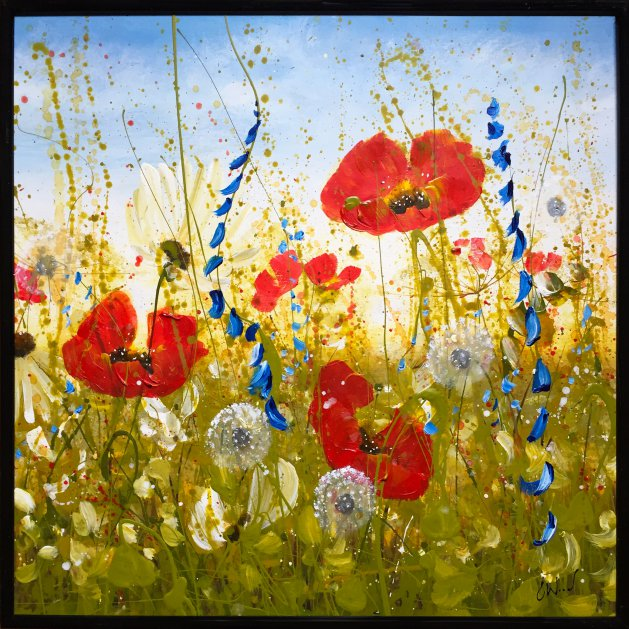 Joyful Poppies. Original art by C.A. Wood
