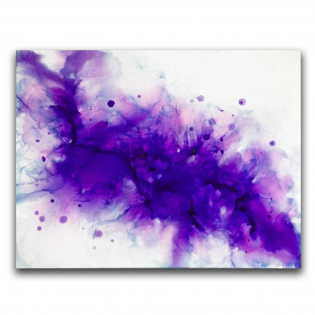 Purple Abstract. Original art by C.A. Wood