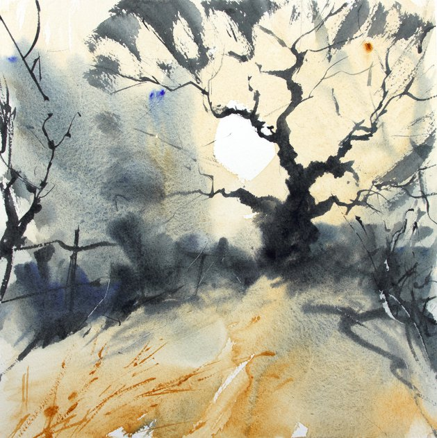 Winter Tree #14. Original art by Adrian Homersham