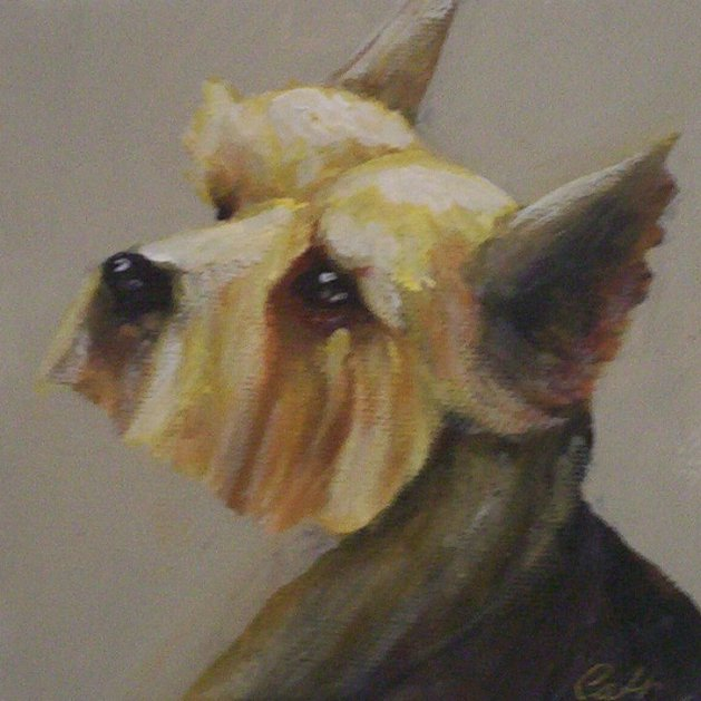 Yorkie. Original art by Cath Little