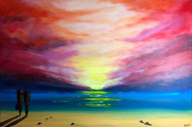 Passionate Sunset. Original art by Aisha Haider