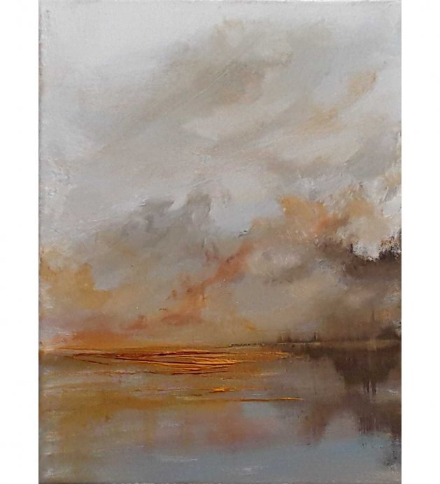 Golden sunset. Original art by Valerie Beales