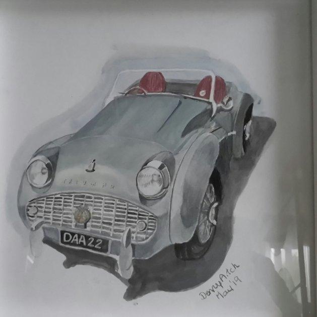 Triumph. Original art by Denny Aitch