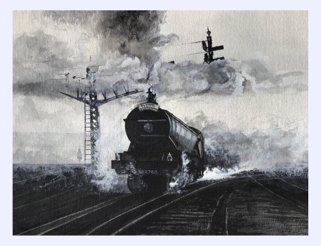Flying Scotsman. Original art by Janet Blower