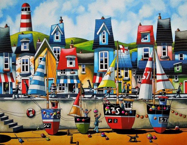 """ Cornish Colours "". Original art by Paul Kiernan"