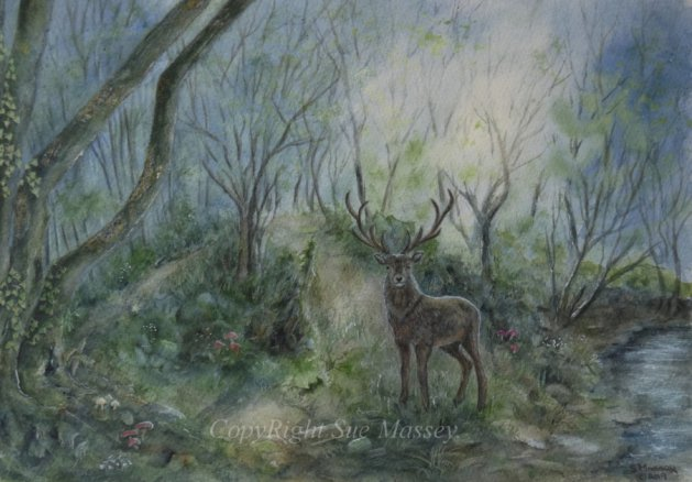 The Glorious Stag.. Original art by Sue Massey