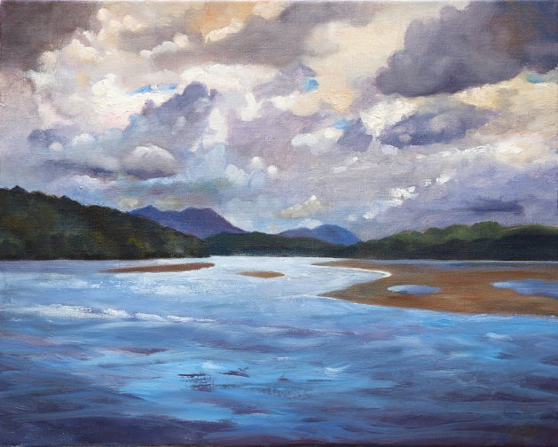 Afon Dwyryd, Portmeirion. Original art by Christine Derrick