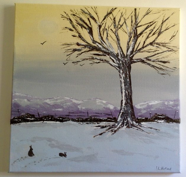 Winter on the Moors. Original art by Irene Shortland