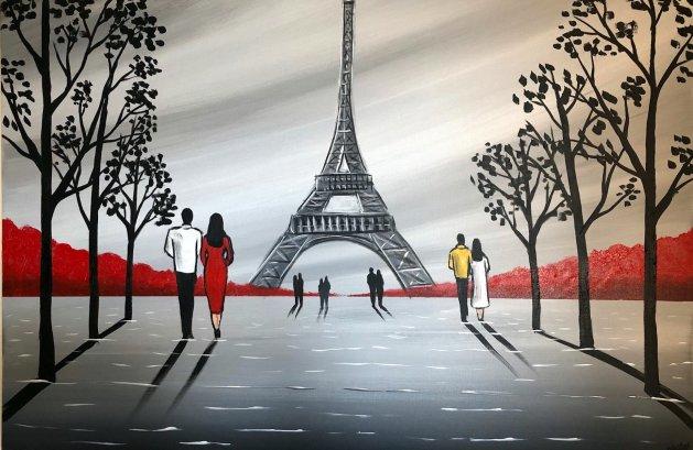 Memories of Paris 2. Original art by Aisha Haider
