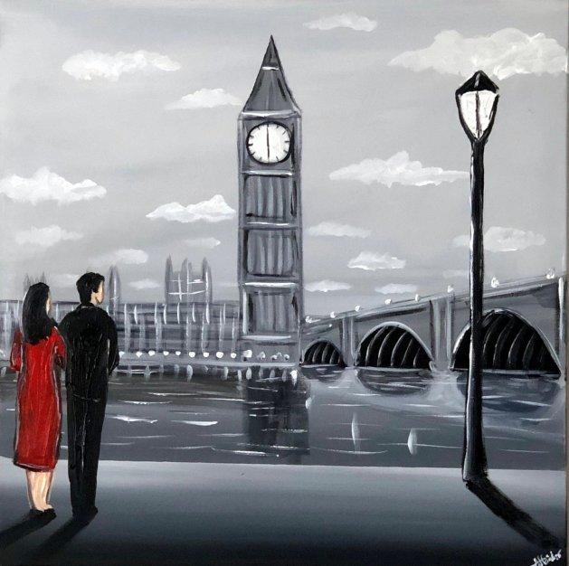Our Time In London. Original art by Aisha Haider
