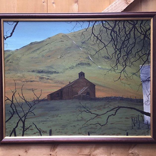 Church at Buttermere. Original art by Janet Blower