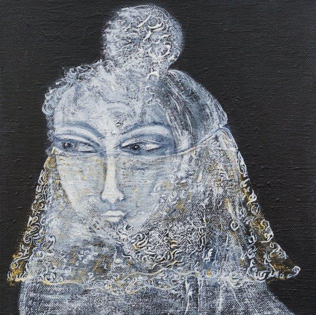 The Veil. Original art by Sue Wright