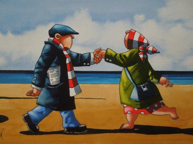 """ Dancing Feet "". Original art by Paul Kiernan"