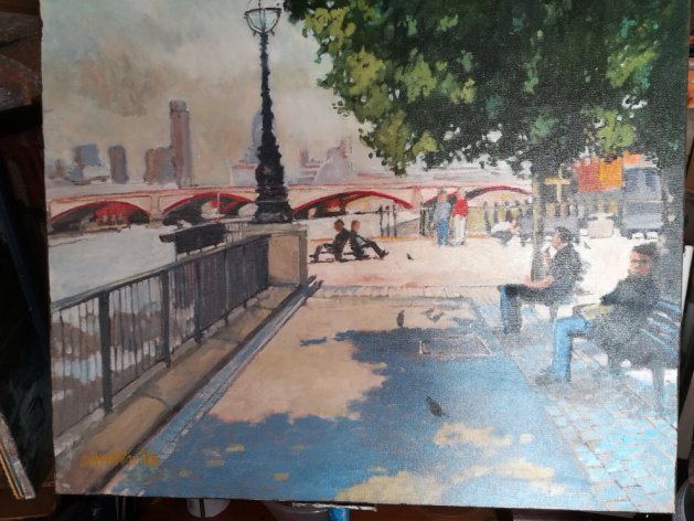 Embankment. Original art by John Wardle