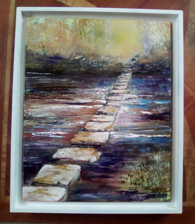Stepping Stones. Original art by Cath Little