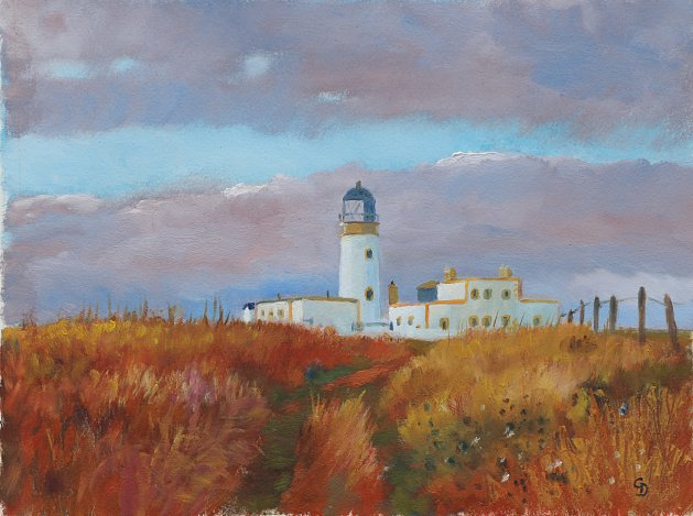 Killantringan Lighthouse. Original art by Christine Derrick