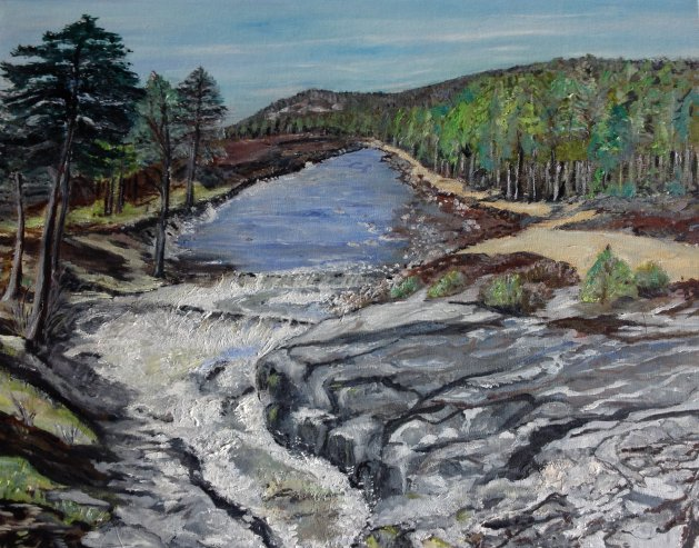 Mar Estate Aberdeenshire Scotland. Original art by KathleenTaylor