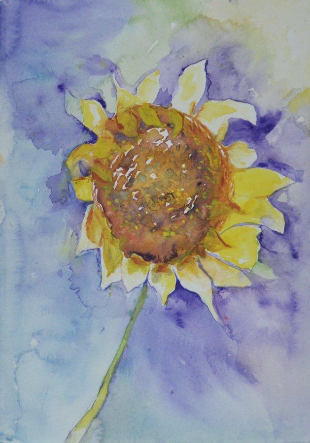 Bold Sunflower. Original art by KathleenTaylor