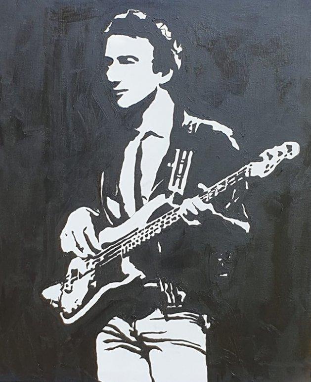 John Deacon mono canvas. Original art by William Pow