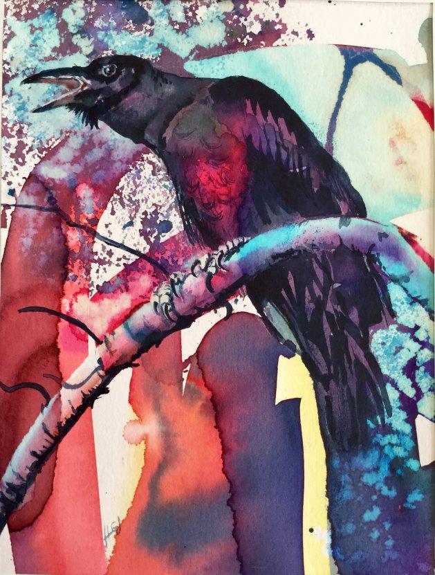 Raven Red Chest. Original art by Hilary Garnock-Jones
