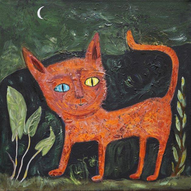 Odd Eyes. Original art by Sue Wright