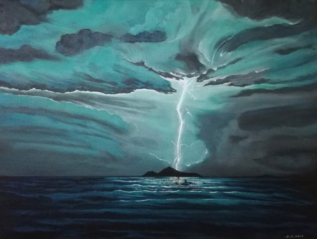 Thunderstruck.. Original art by Zoe Adams