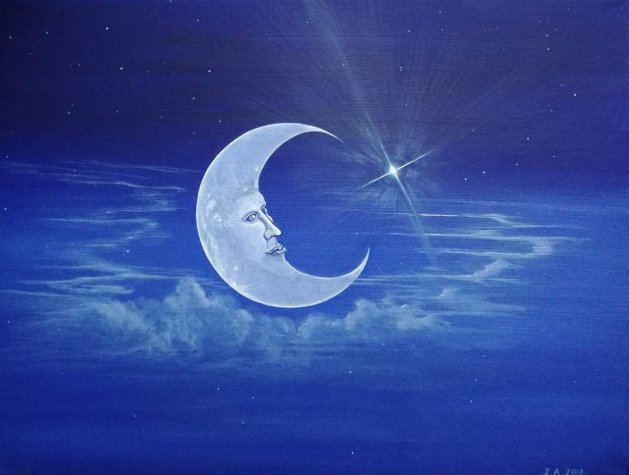 Moon in Love.. Original art by Zoe Adams