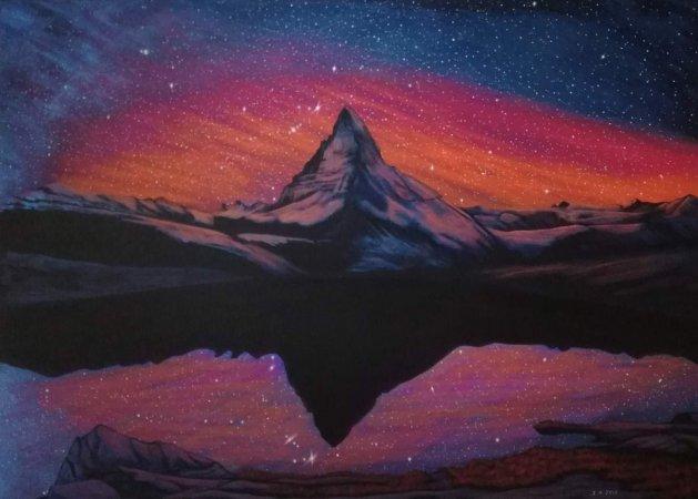 Matterhorn.. Original art by Zoe Adams