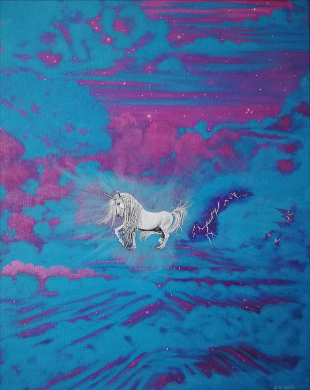 Unicorn.. Original art by Zoe Adams