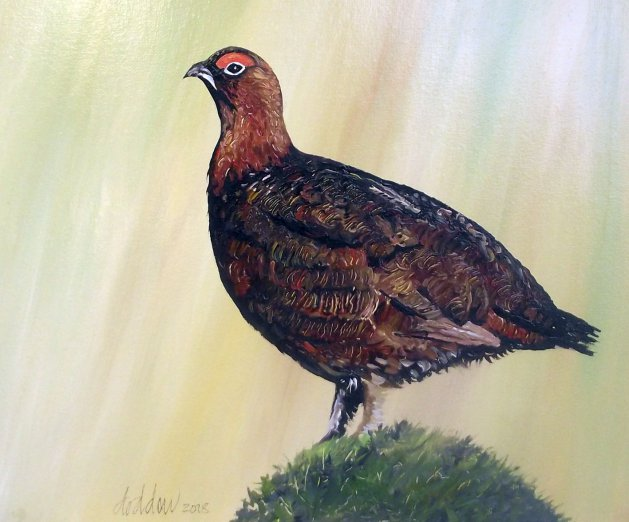 Grouse Painting. Original art by George Dow
