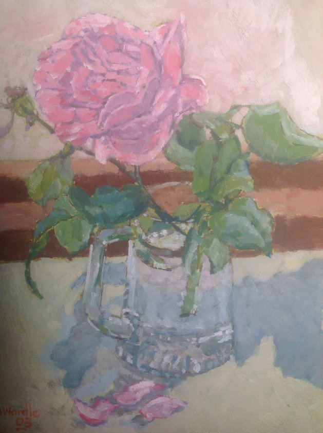 Rose and Glass. Original art by John Wardle