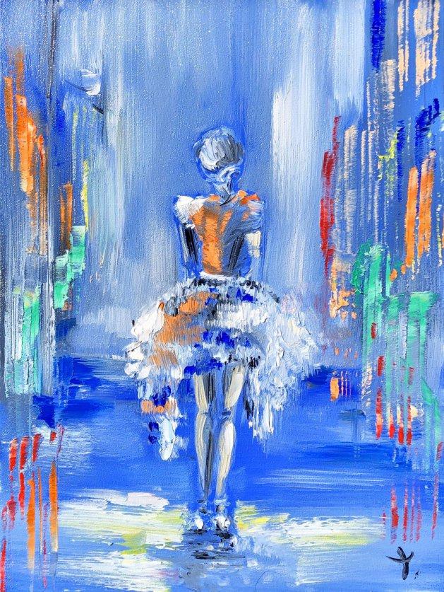 Lady oil. Original art by Tanya Stefanovich