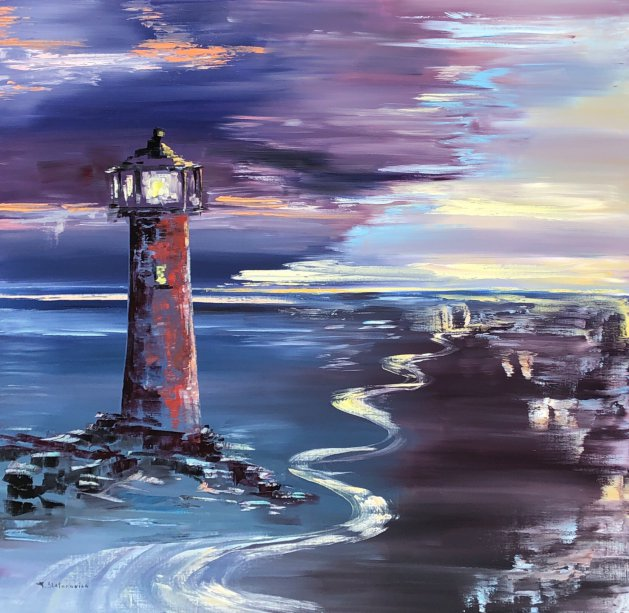 Lighthouse 60*60cm. Original art by Tanya Stefanovich
